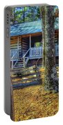 Restored Log Cabin Portable Battery Charger