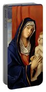 Restored Old Master Madonna And Child  Portable Battery Charger