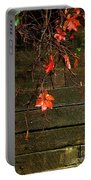 Retaining Wall In Autumn Portable Battery Charger