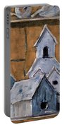 Retired Bird Houses By Prankearts Fine Arts Portable Battery Charger