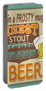 Retro Beer Sign-jp2917 Portable Battery Charger