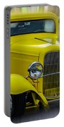 Retro Car In Yellow Portable Battery Charger