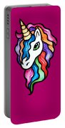 Retro Rainbow Unicorn Portable Battery Charger
