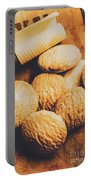 Retro Shortbread Biscuits In Old Kitchen Portable Battery Charger