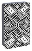Retro Square Background Portable Battery Charger