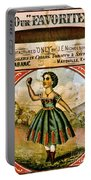 Retro Tobacco Label 1868 C Portable Battery Charger