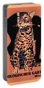 Retro Vintage Munich Zoo Big Cats Portable Battery Charger