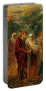 Returning From The Burial Of Christ Portable Battery Charger