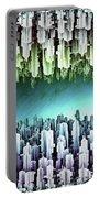 Reversible Futuristic Megalopolis City Portable Battery Charger
