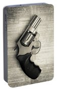 Revolver Pistol Gun Over Drawings Portable Battery Charger