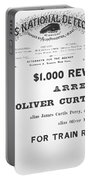 Reward Poster For The Arrest Of Oliver Perry Issued  Portable Battery Charger