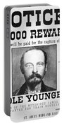 Reward Poster For Thomas Cole Younger Portable Battery Charger by American School