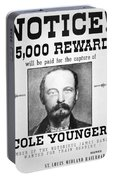Reward Poster For Thomas Cole Younger Portable Battery Charger