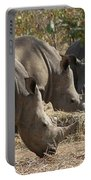 Rhinos,  Zambia Portable Battery Charger