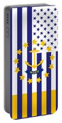 Rhode Island State Flag Graphic Usa Styling Portable Battery Charger
