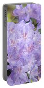 Rhododendron Floral Flowers Lavender Purple Prints Baslee Portable Battery Charger