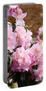 Rhododendron Garden Art Print Pink Rhodies Flowers Baslee Troutman Portable Battery Charger
