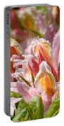 Rhododendrons Floral Art Prints Canvas Pink Orange Rhodies Baslee Troutman Portable Battery Charger