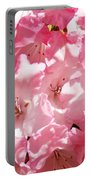 Rhododendrons Flowers Art Print Pink Rhodies Baslee Troutman Portable Battery Charger