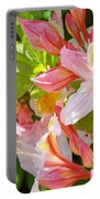 Rhododendrons Garden Floral Art Print Pink Rhodies Portable Battery Charger