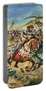 Richard The Lionheart During The Crusades Portable Battery Charger by Peter Jackson