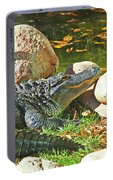 Richly Hued Colorado Gator On The Rocks 2 10282017 Portable Battery Charger