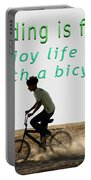 Riding Is Fun. Enjoy Life With A Bicycle  Portable Battery Charger
