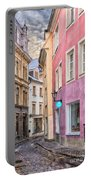 Riga Narrow Road Digital Painting Portable Battery Charger
