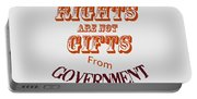 Rights Aae Not Gifts From Government 2004 Portable Battery Charger