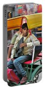 Rikshaw Rider - New Delhi India Portable Battery Charger
