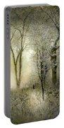 Rimy Forest Windy Daybreak By Laszlo Mednyanszky 1896 Portable Battery Charger