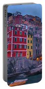 Riomaggiore In Cinque Terre Italy Painterly Portable Battery Charger