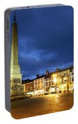 Ripon Market Place At Dusk Portable Battery Charger