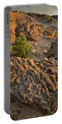 Ripple Boulders At Sunset In Bentonite Quarry Portable Battery Charger