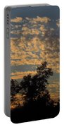 Ripple Clouds At Sunset Portable Battery Charger