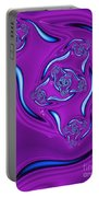Ripples In A Purple Pond Portable Battery Charger