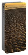 Ripples In The Sand Low Tide Golden Sunset Portable Battery Charger