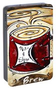 Rise And Shine Original Painting Madart Portable Battery Charger