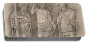 Risen Christ Between Saints Andrew And Longinus Portable Battery Charger