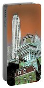 Rising High - New York Wall Street Skyline Portable Battery Charger