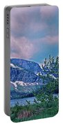 Rising Wolf Mountain And Two Medicine Lake Portable Battery Charger