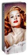 Rita Hayworth, Vintage Actress Portable Battery Charger