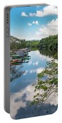 River Boats Docked Portable Battery Charger