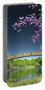 River Bridge Cherry Tree Blosson Portable Battery Charger