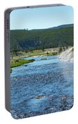 River In Yellowstone Portable Battery Charger