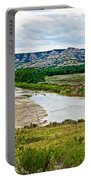 River Landscape In Northwest North Dakota  Portable Battery Charger