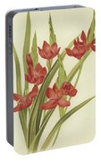 River Lily Or Crimson Flag Portable Battery Charger