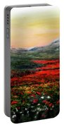 River Of Poppies Portable Battery Charger