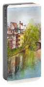 River Pegnitz In Nuremberg Old Town Germany Portable Battery Charger
