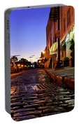 River Street At Dusk Portable Battery Charger